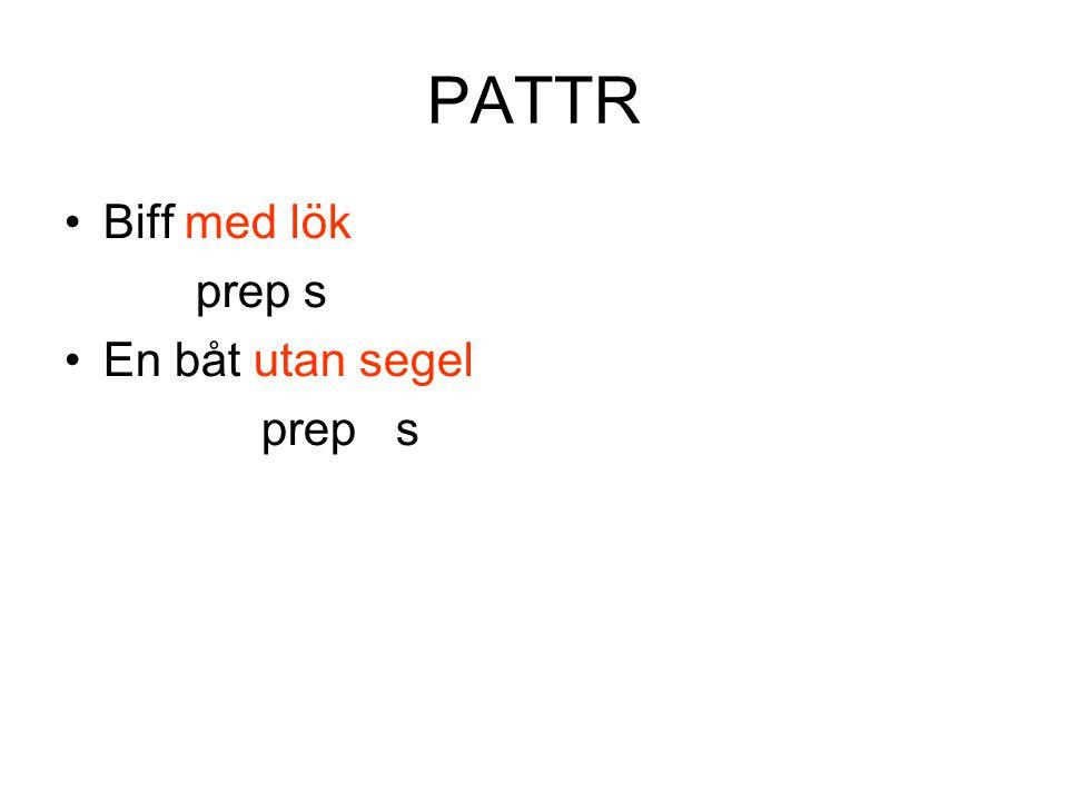 PATTR Biff med lök prep s En båt utan segel prep s