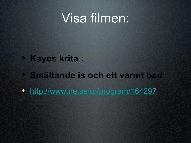 Visa filmen: Kayos krita : Smältande is och ett varmt bad