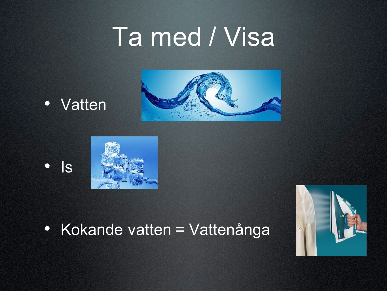 Ta med / Visa Vatten Is Kokande vatten = Vattenånga