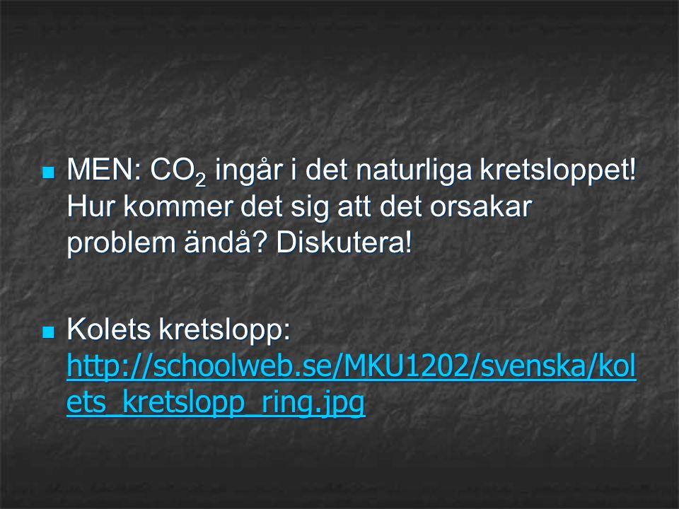 MEN: CO2 ingår i det naturliga kretsloppet