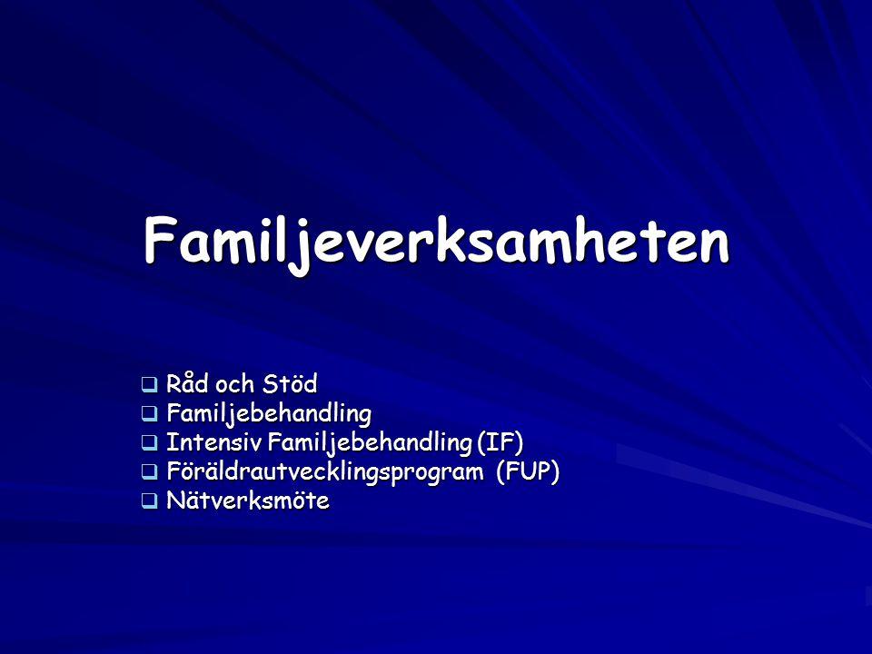 Familjeverksamheten Råd och Stöd Familjebehandling