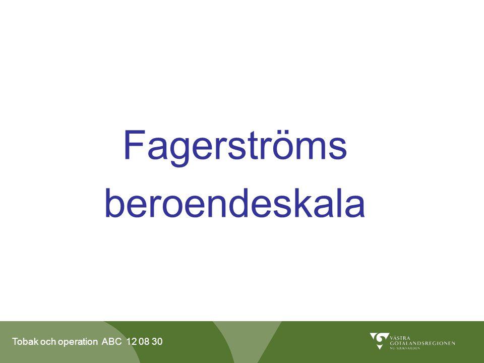 Fagerströms beroendeskala