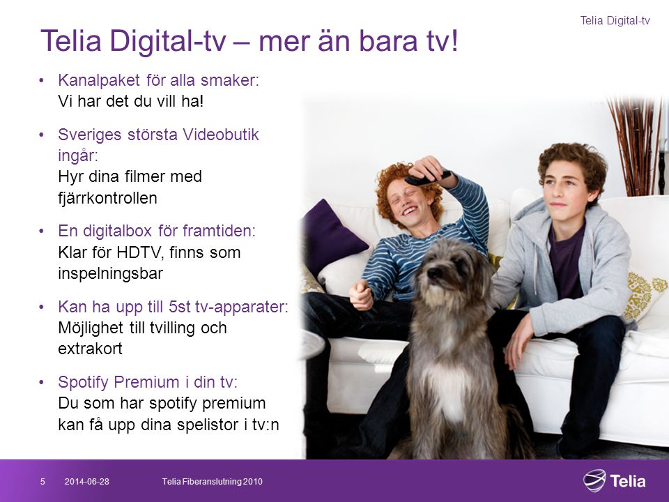 Telia Digital-tv – mer än bara tv!