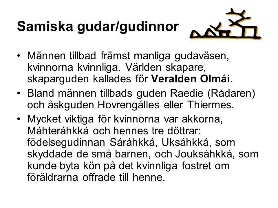 Samiska gudar/gudinnor