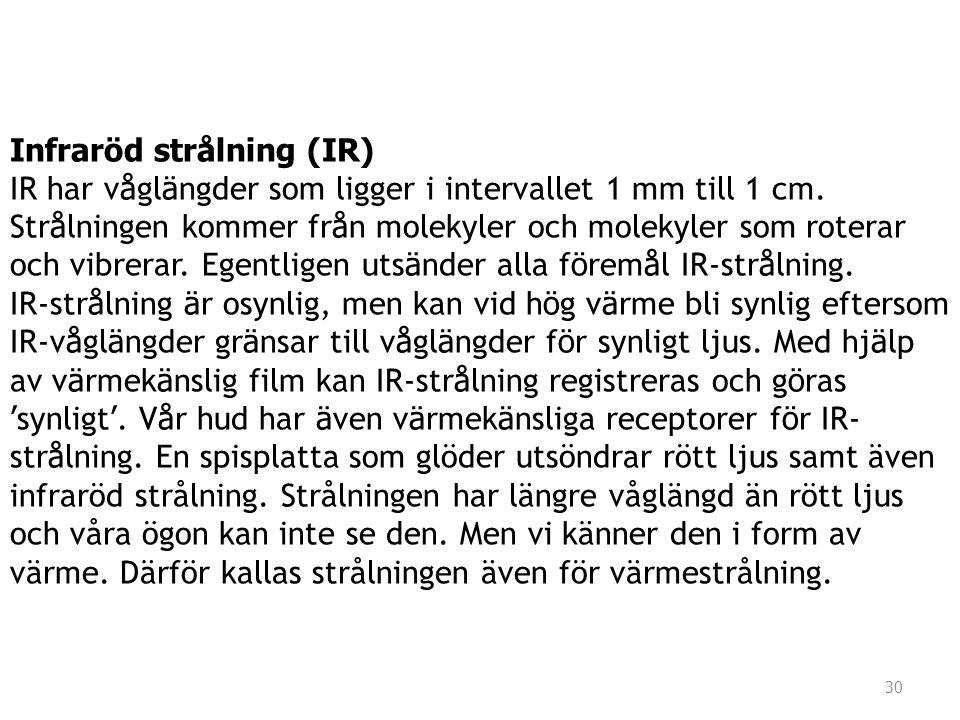 Infraröd strålning (IR)