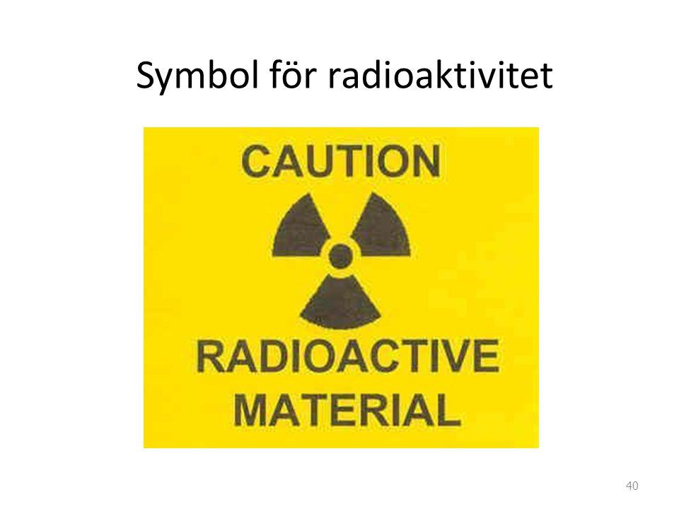 Symbol för radioaktivitet