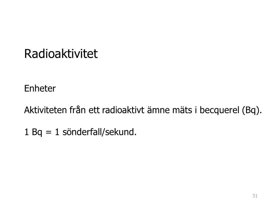 Radioaktivitet Enheter