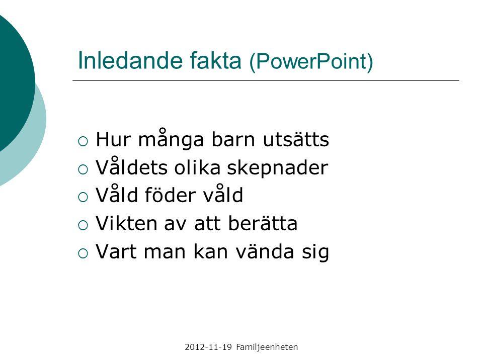 Inledande fakta (PowerPoint)