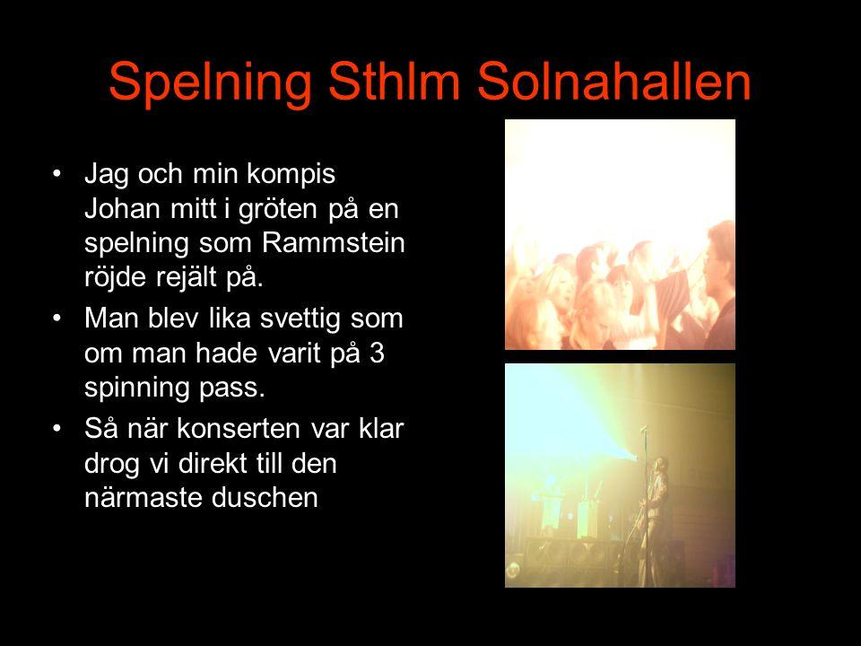 Spelning Sthlm Solnahallen