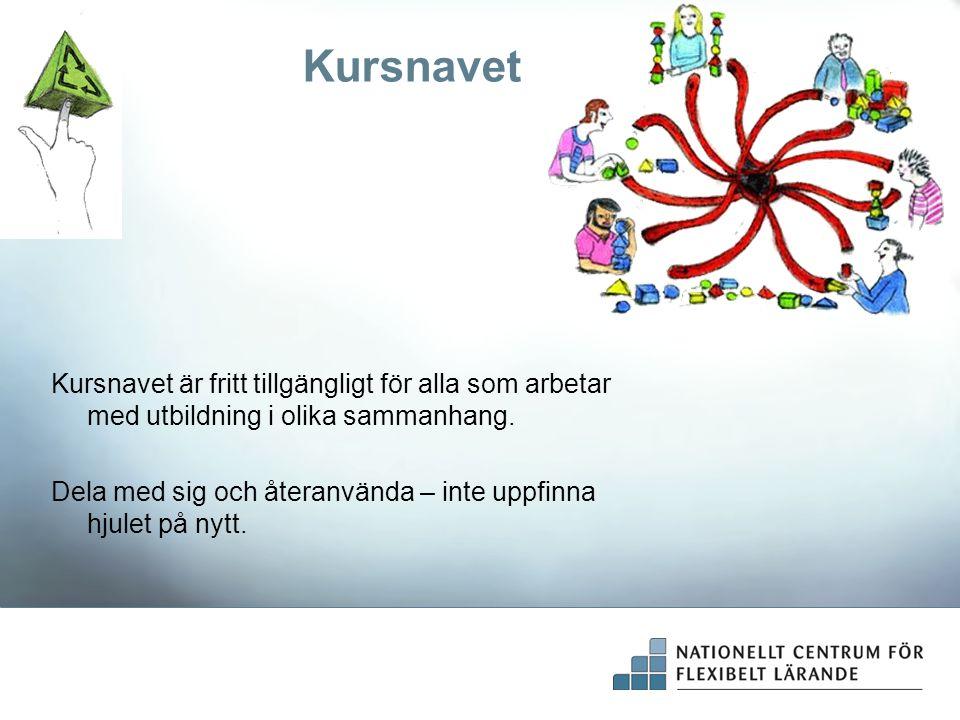 Kursnavet Kursnavet är fritt tillgängligt för alla som arbetar med utbildning i olika sammanhang.