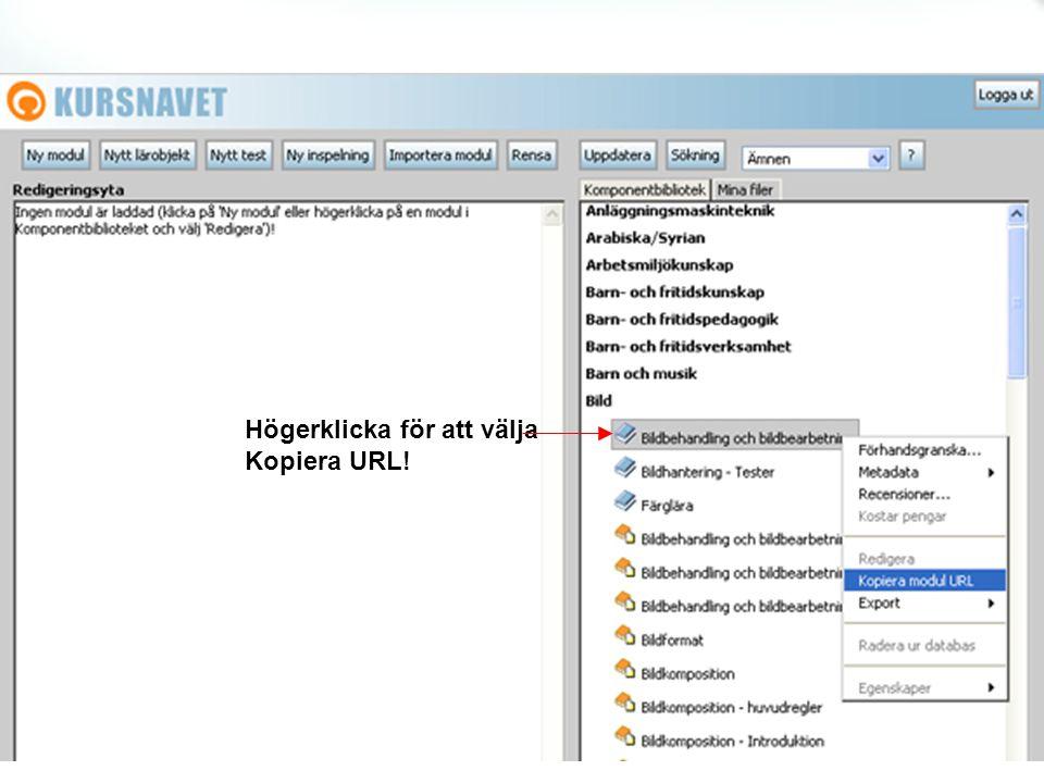 Högerklicka för att välja Kopiera URL!