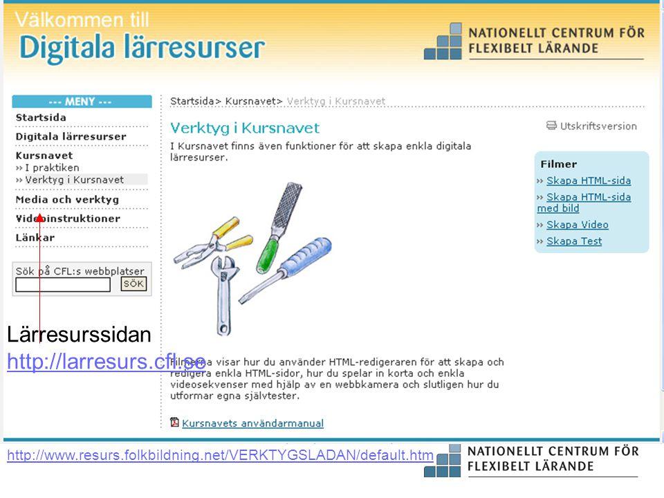 Lärresurssidan http://larresurs.cfl.se
