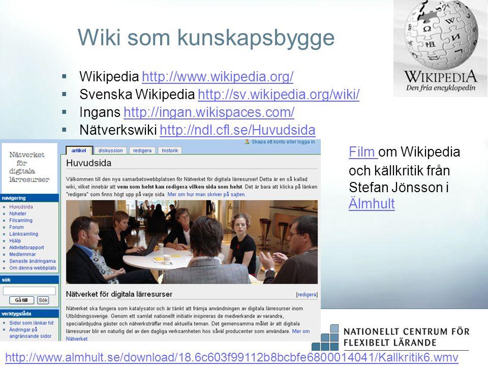 Wiki som kunskapsbygge