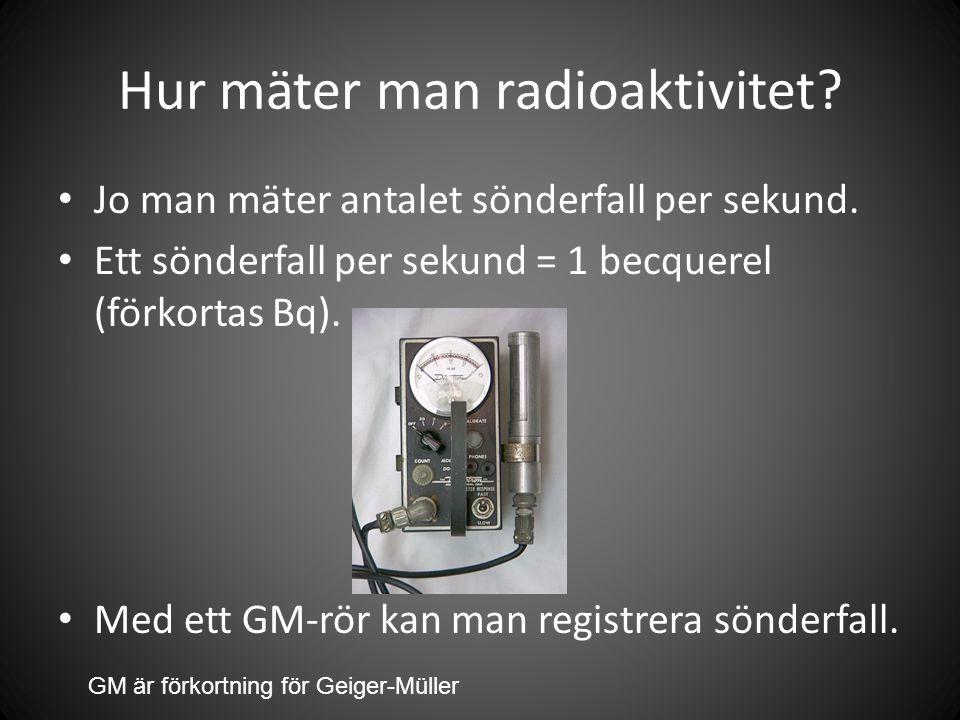 Hur mäter man radioaktivitet