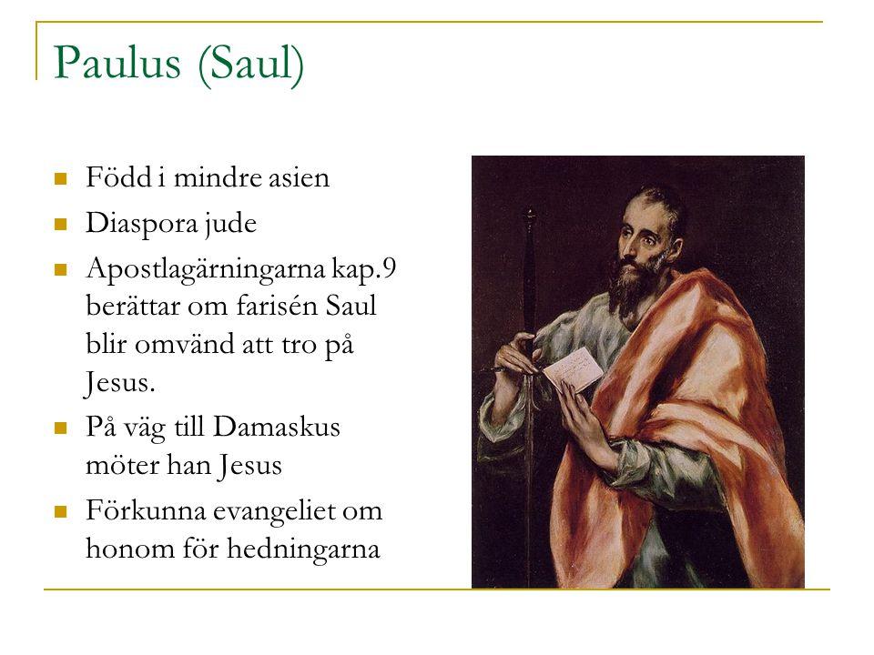 Paulus (Saul) Född i mindre asien Diaspora jude