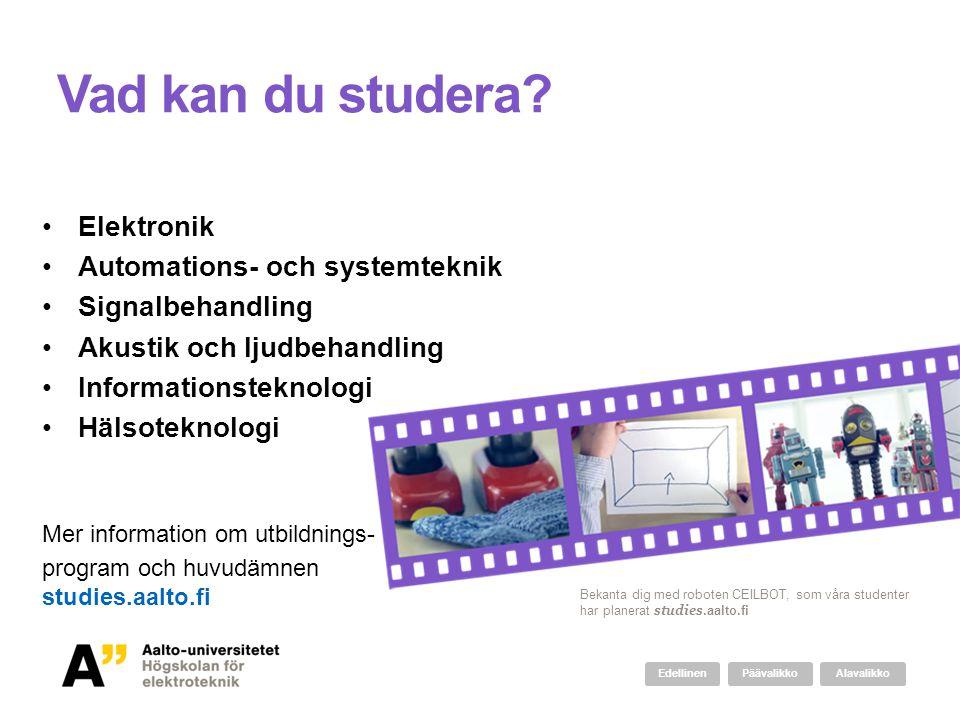 Vad kan du studera Elektronik Automations- och systemteknik