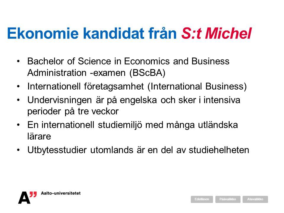 Ekonomie kandidat från S:t Michel