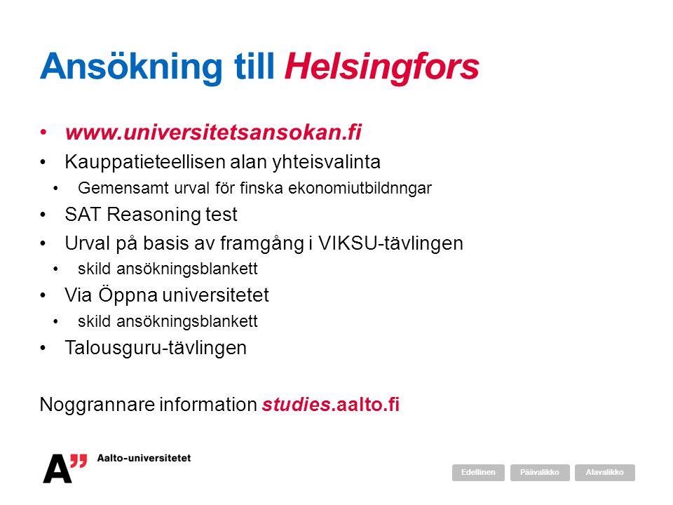 Ansökning till Helsingfors