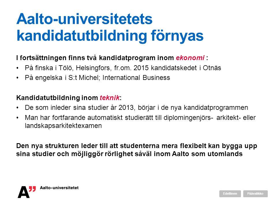 Aalto-universitetets kandidatutbildning förnyas