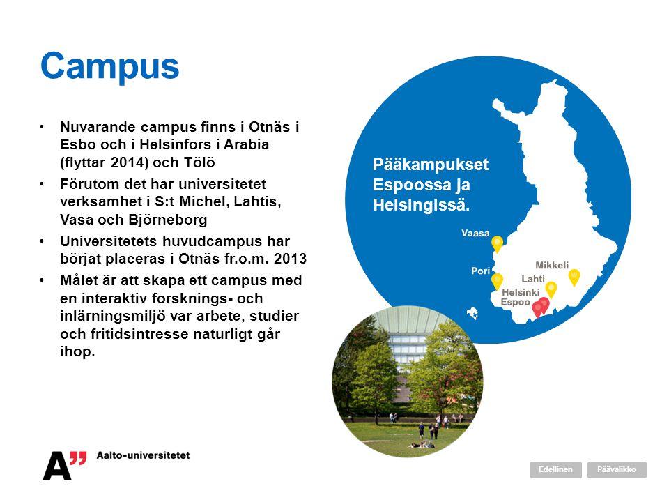Campus Pääkampukset Espoossa ja Helsingissä.