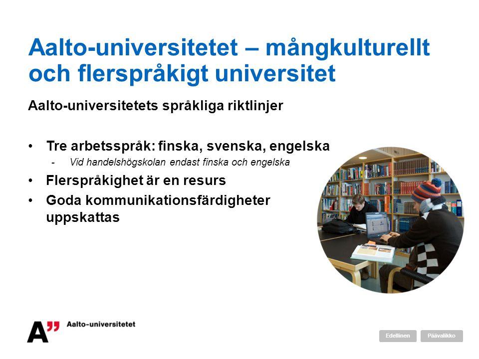Aalto-universitetet – mångkulturellt och flerspråkigt universitet