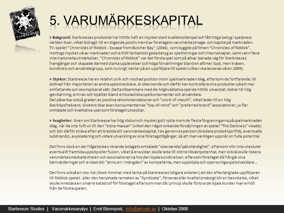 5. varumärkeskapital