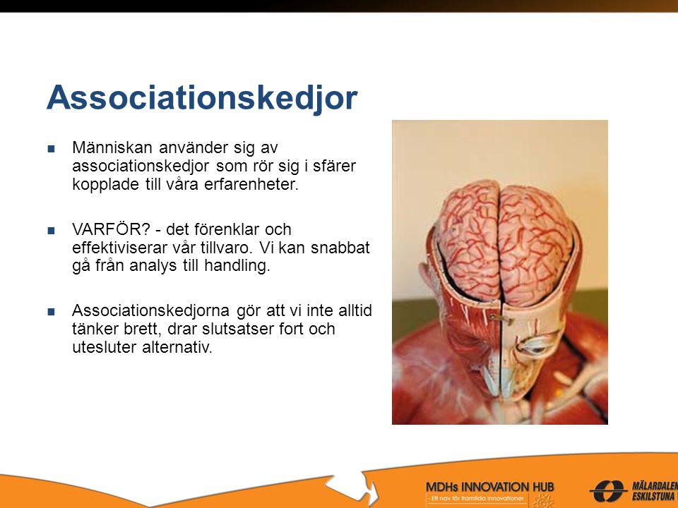 Associationskedjor Människan använder sig av associationskedjor som rör sig i sfärer kopplade till våra erfarenheter.