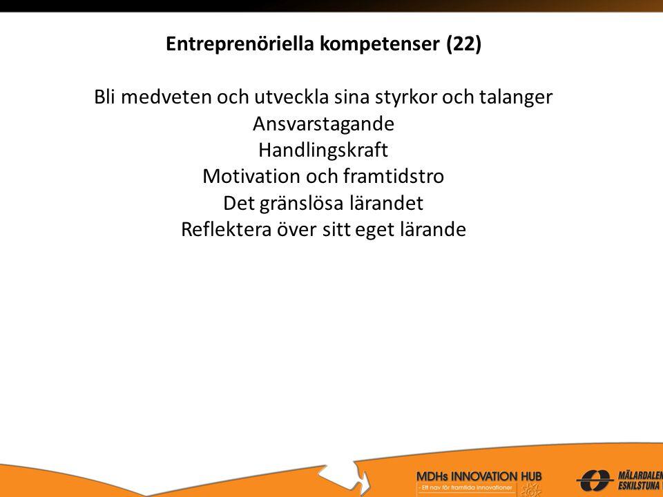 Entreprenöriella kompetenser (22)