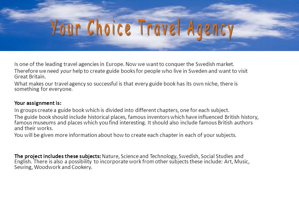 Your Choice Travel Agency Your Choice Travel Agency
