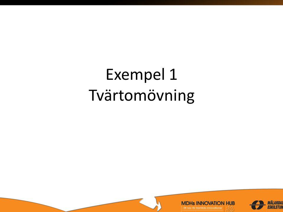Exempel 1 Tvärtomövning