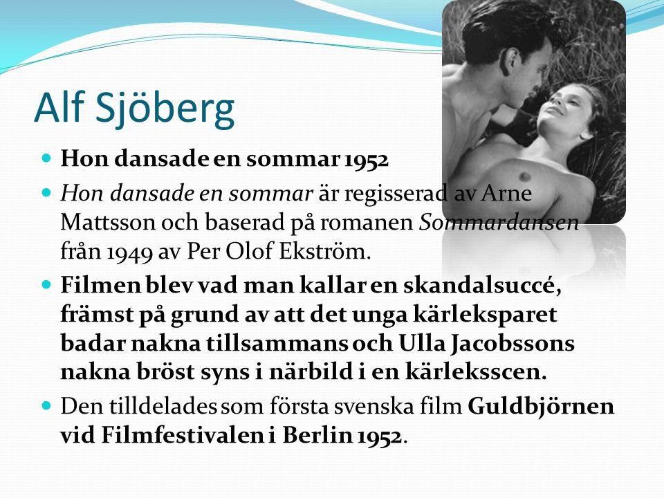 Alf Sjöberg Hon dansade en sommar 1952