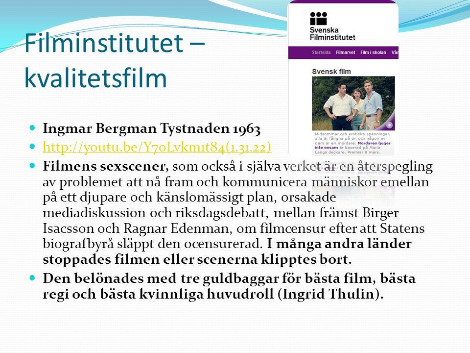 Filminstitutet – kvalitetsfilm