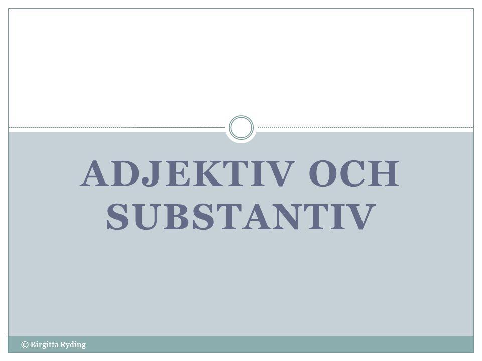 adjektiv och substantiv