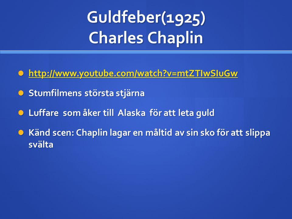 Guldfeber(1925) Charles Chaplin