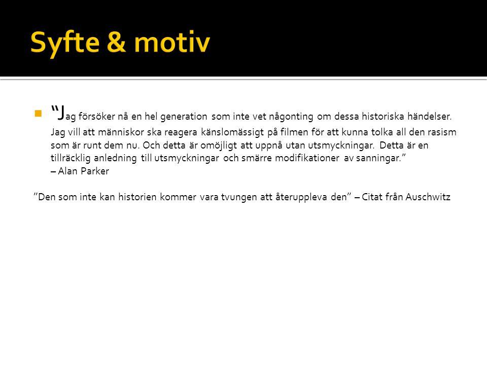 Syfte & motiv