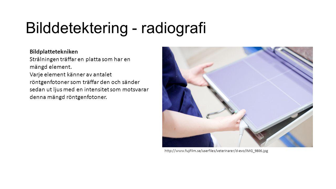 Bilddetektering - radiografi