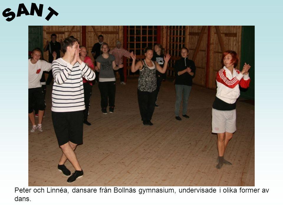 SANT Peter och Linnéa, dansare från Bollnäs gymnasium, undervisade i olika former av dans.