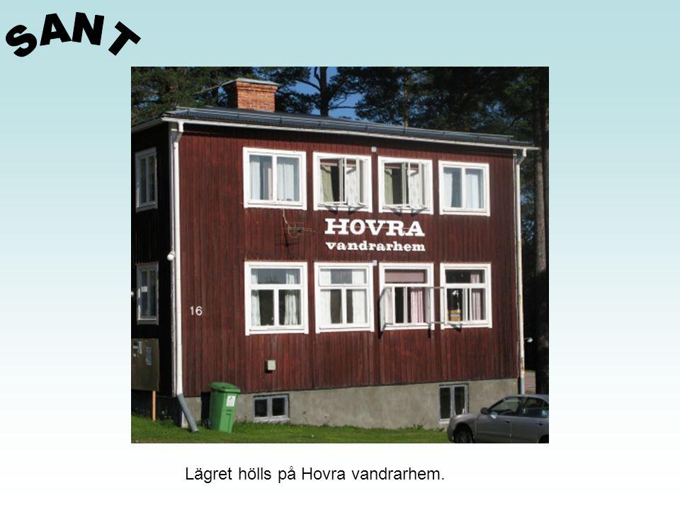 SANT Lägret hölls på Hovra vandrarhem.