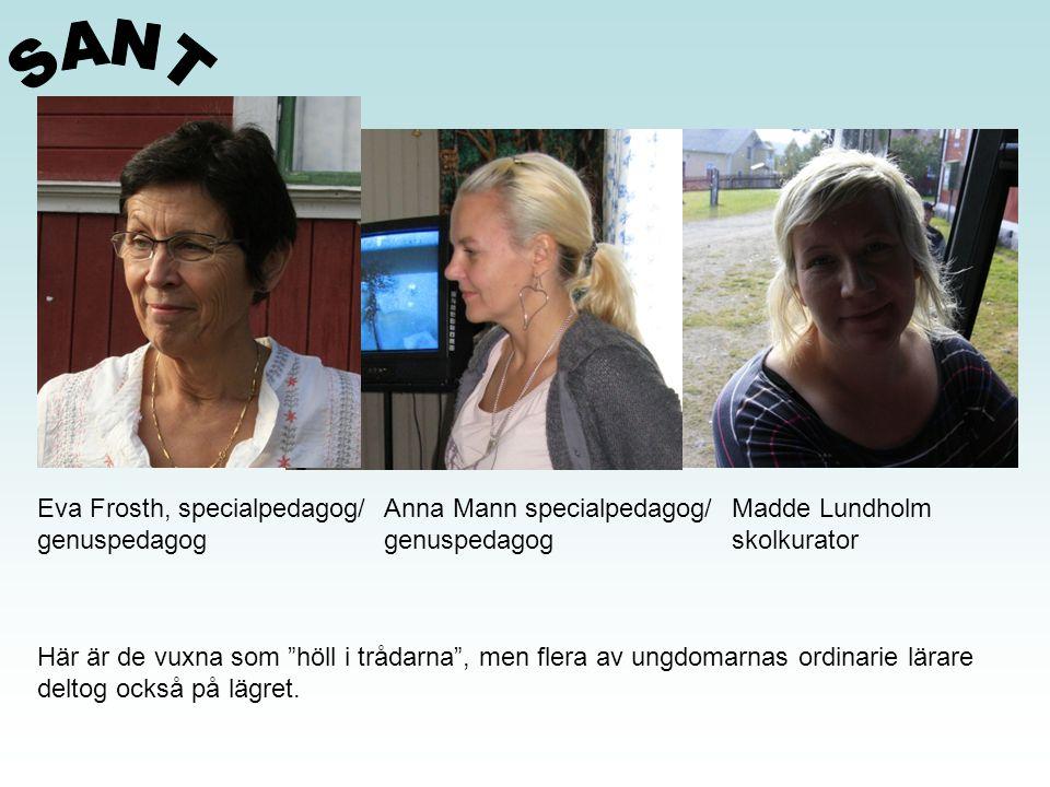 SANT Eva Frosth, specialpedagog/ genuspedagog