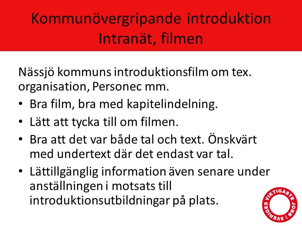 Kommunövergripande introduktion Intranät, filmen