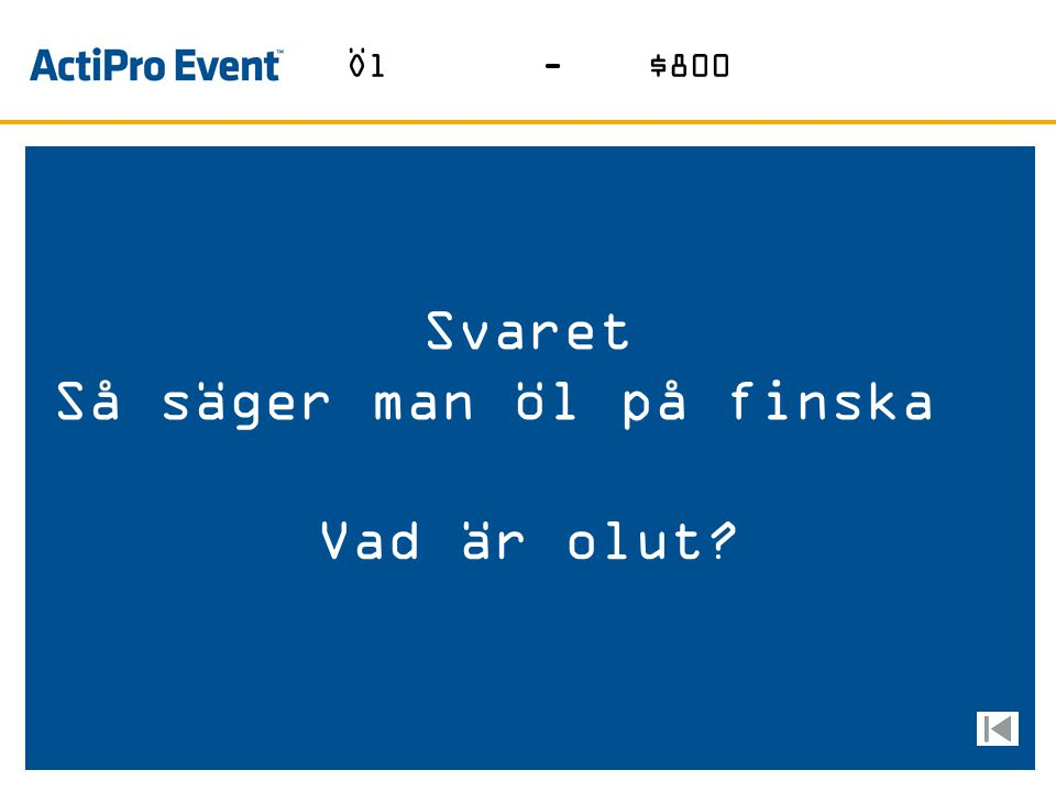Så säger man öl på finska