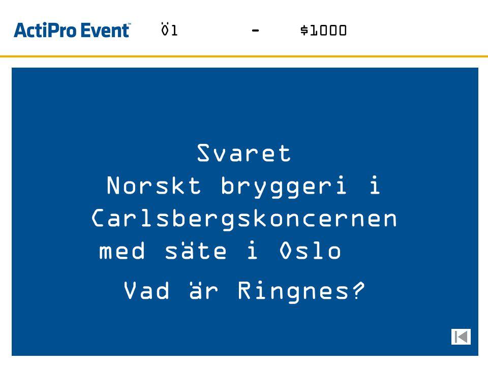 Norskt bryggeri i Carlsbergskoncernen