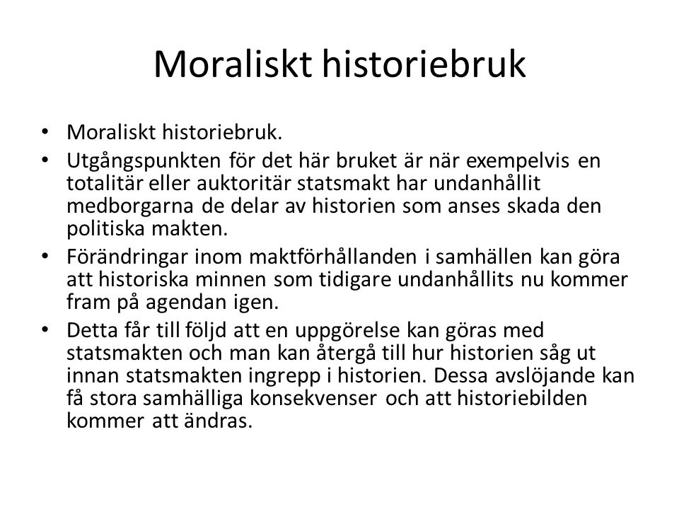 Moraliskt historiebruk