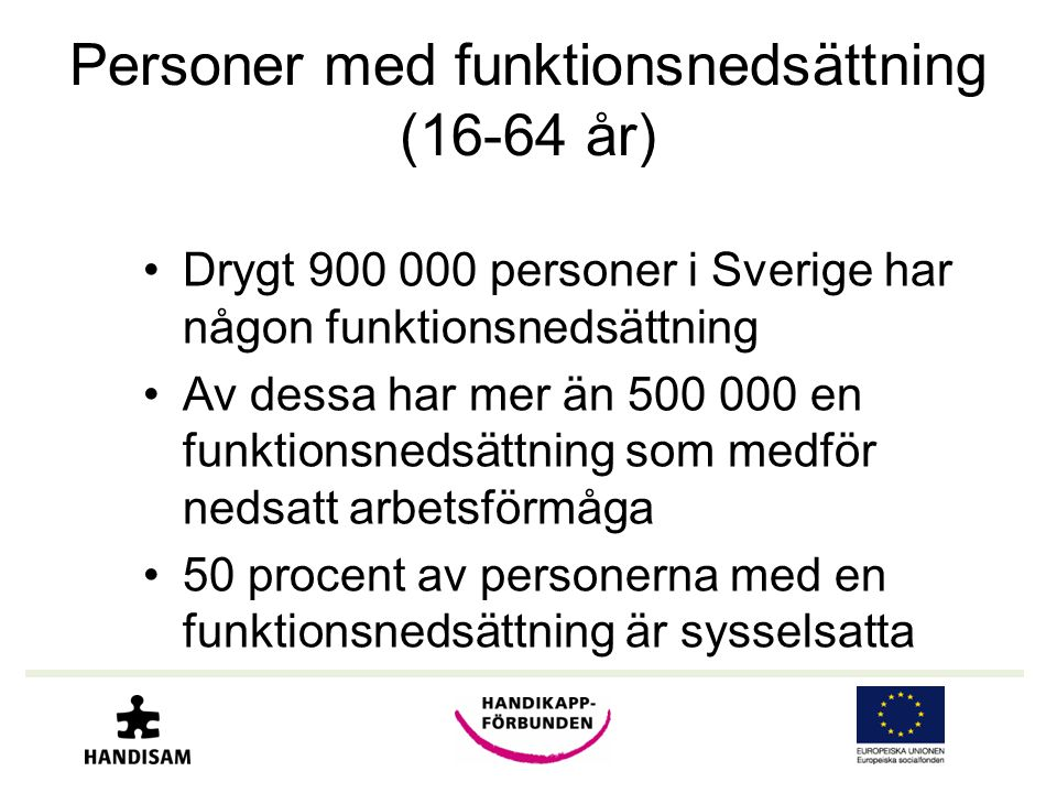 Personer med funktionsnedsättning (16-64 år)