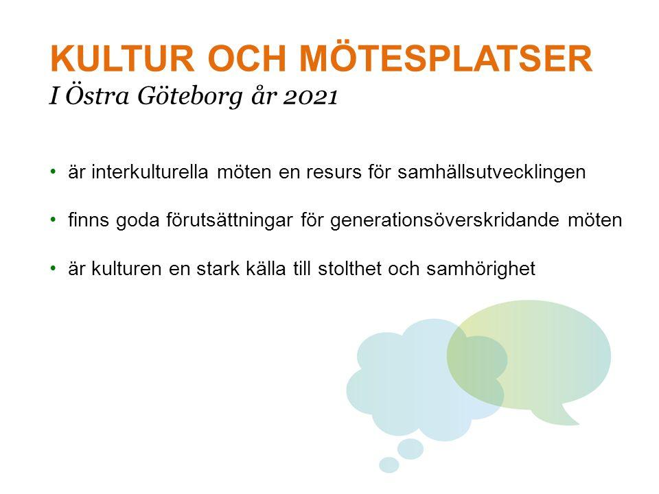 KULTUR OCH MÖTESPLATSER I Östra Göteborg år 2021
