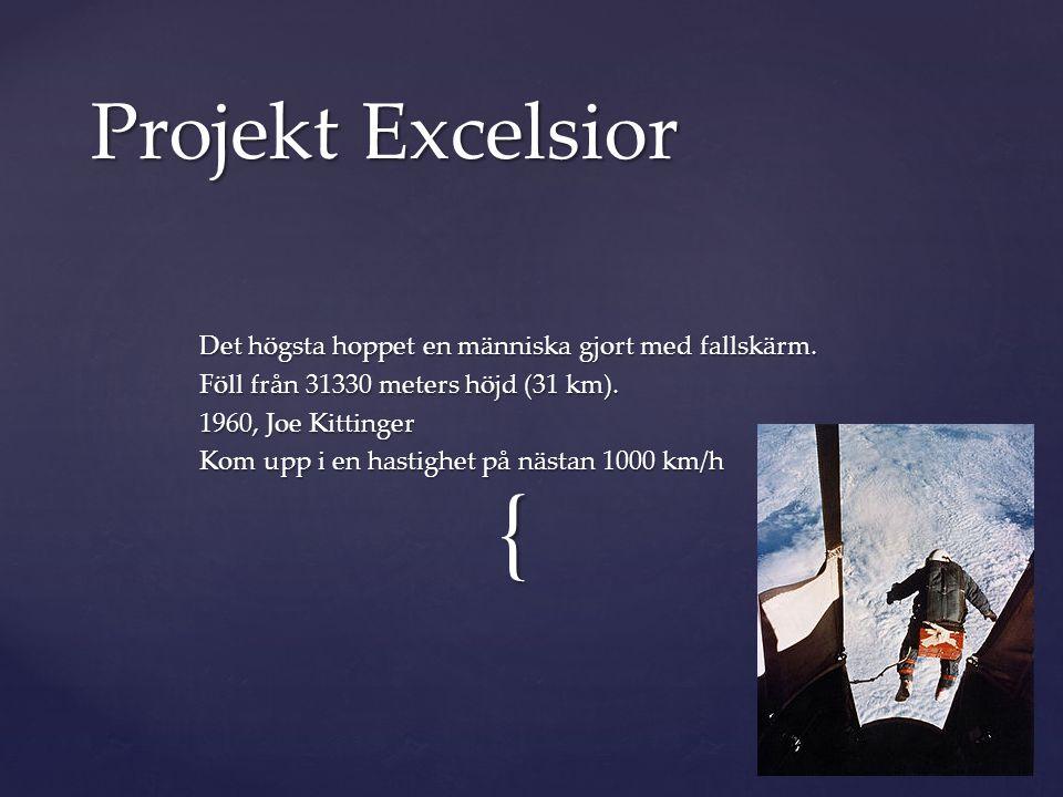 Projekt Excelsior Det högsta hoppet en människa gjort med fallskärm.