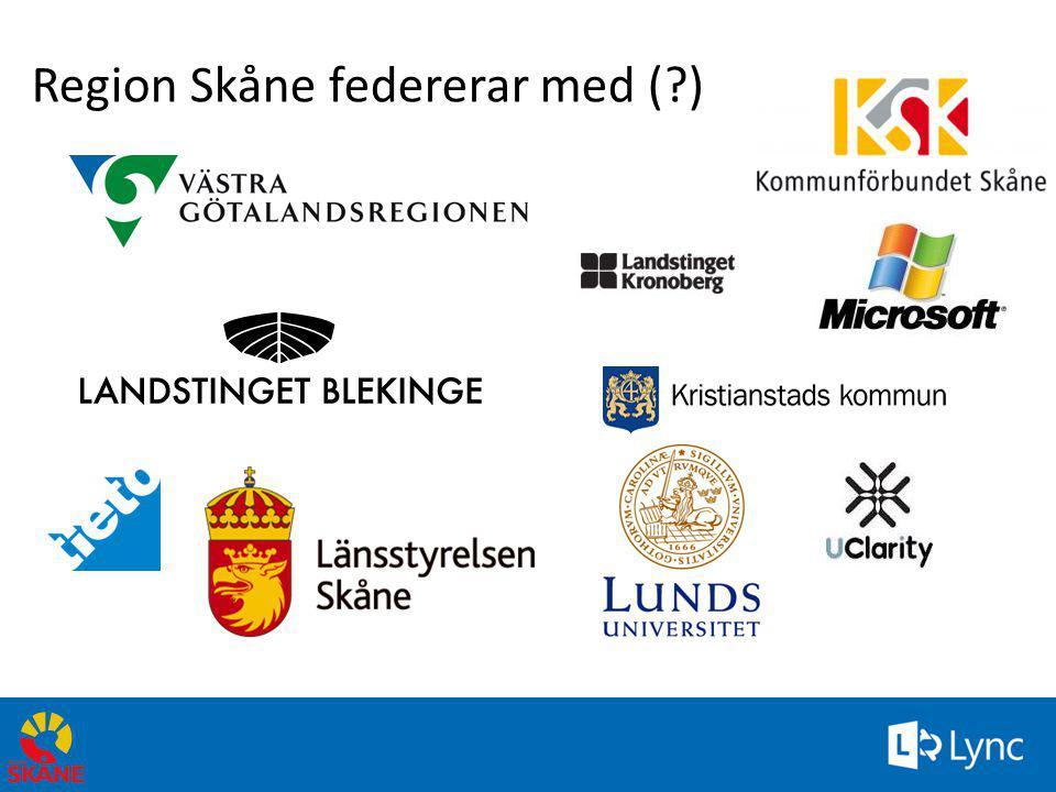 Region Skåne federerar med ( )