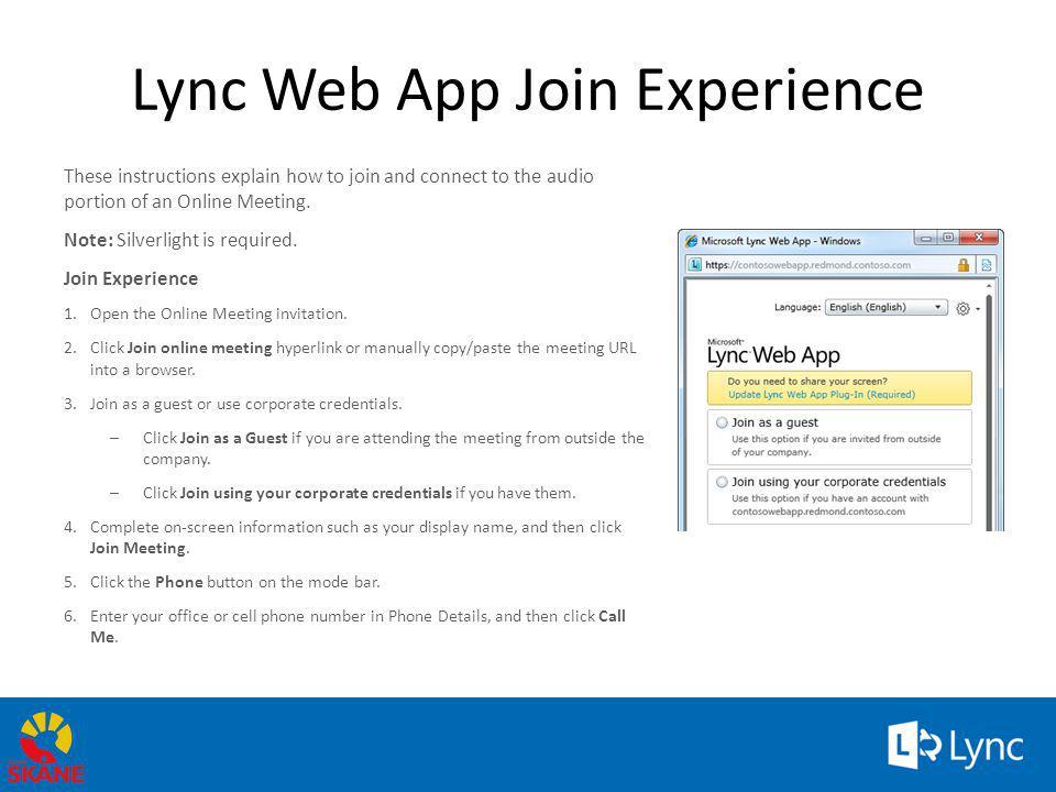 Lync Web App Join Experience