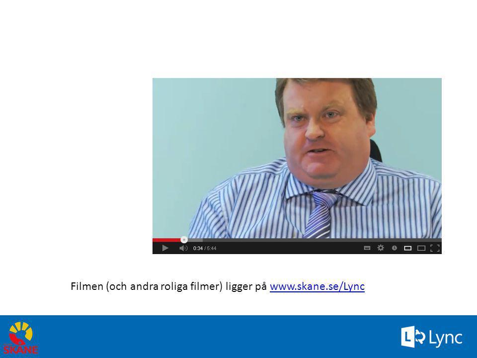 Filmen (och andra roliga filmer) ligger på www.skane.se/Lync