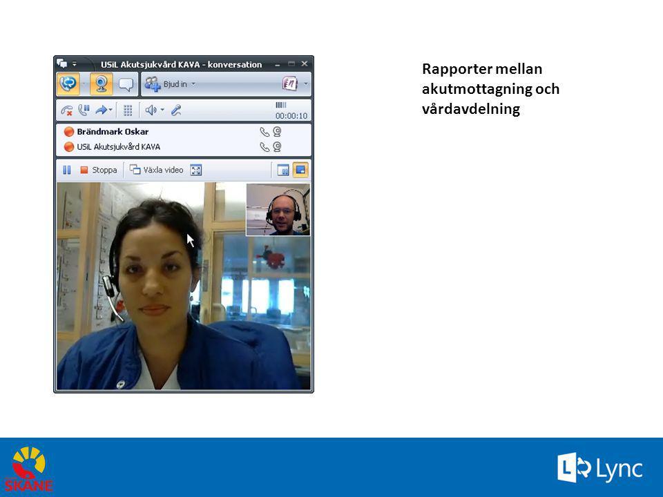 Rapporter mellan akutmottagning och vårdavdelning